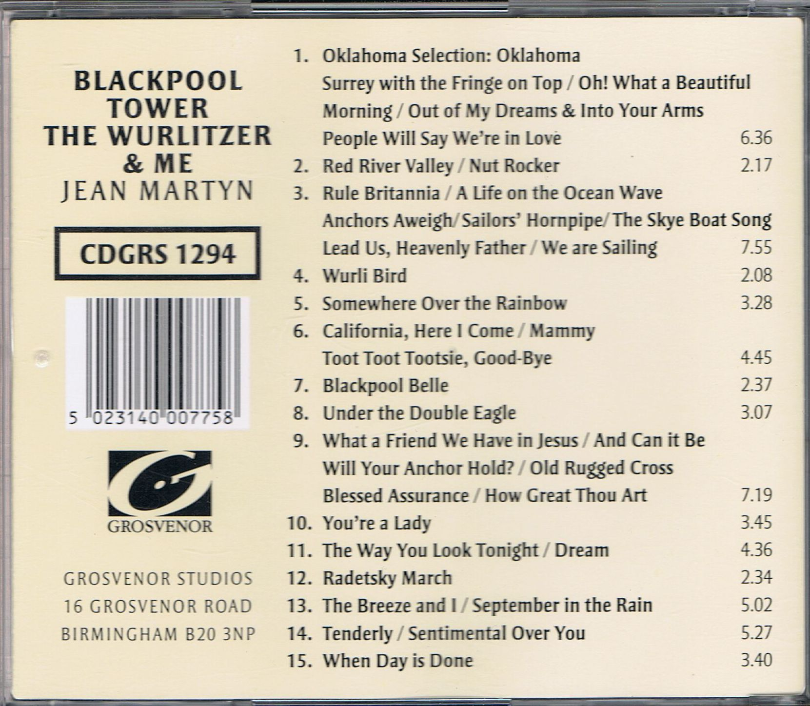Jean Martyn - Blackpool Tower, The Wurlitzer & Me