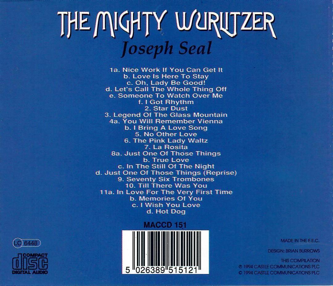 Joseph Seal - The Might Wurlitzer