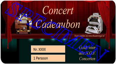 Concertbon 1 persoon