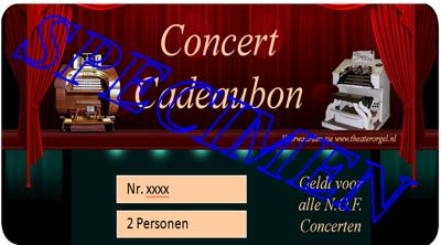 Concertbon 2 personen