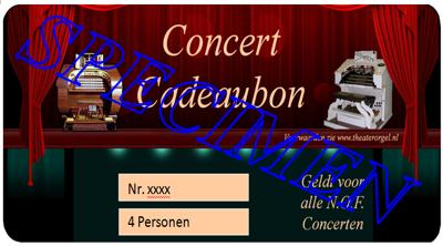 Concertbon 4 personen